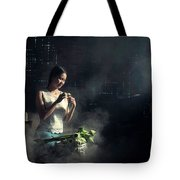 Asian People With Cooking, Living In Rural Countryside, Rural Th Tote Bag