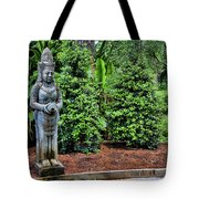 Asian Statue Jefferson Island  Tote Bag