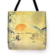 Asian Sunrise Tote Bag