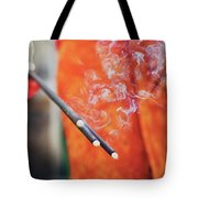 Asian Woman Holding Incense Sticks During Hindu Ceremony In Bali, Indonesia Tote Bag