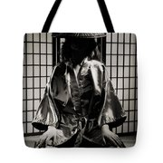 Asian Woman In Kimono Tote Bag