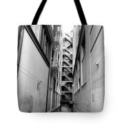 Asian Woman Sitting In Alley Tote Bag