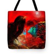 Ask The Raven II Tote Bag by Patricia Motley