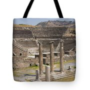 Asklepion Columns And Amphitheatre Tote Bag