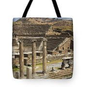 Asklepion Theatre And Columns Tote Bag