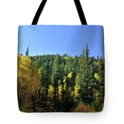 Aspen And Cottonwood In Concert Tote Bag by Ron Cline