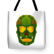 Aspen Leaf Skull 9 Tote Bag