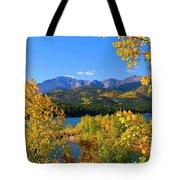 Aspen On Pikes Peak And Crystal Reservoir Tote Bag