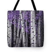 Aspen Trunks Lavender Leaves Tote Bag