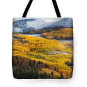 Aspens And Mountains In The Morning Light Tote Bag