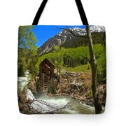 Aspens Around The Crystal Mill Tote Bag