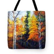 Aspens In Fall. Tote Bag