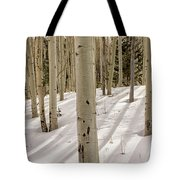 Aspens In Winter 2 Panorama - Santa Fe National Forest New Mexico Tote Bag