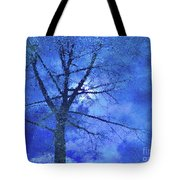 Asphalt-tree Abstract Refection 02 Tote Bag