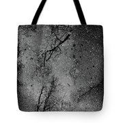 Asphalt-water-tree Abstract Refection 03 Tote Bag
