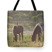 Assateague Island Wild Ponies Tote Bag