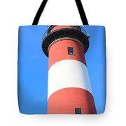 Assateague Lighthouse Abstract Tote Bag