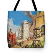 Assault On Carthage Tote Bag