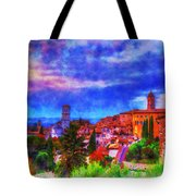 Assisi At Dusk 2 Tote Bag