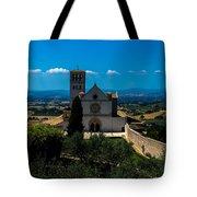 Assisi-basilica Di San Francesco Tote Bag
