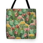 Assorted Blooming Cactus Plants Tote Bag