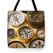 Assorted Compasses Tote Bag