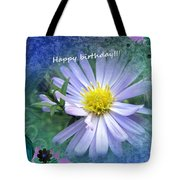 Aster ,  Greeting Card Tote Bag