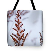 Astilbe Aglow In The Snow Tote Bag
