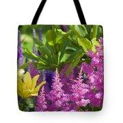 Astilbe In The Garden Tote Bag