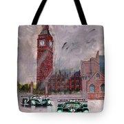 Aston Martin Racing In London Tote Bag