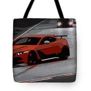 Aston Martin Vantage Gt12 Tote Bag
