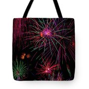 Astonishing Fireworks Tote Bag