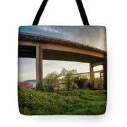 Astoria Bridge Sunrise Tote Bag