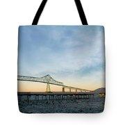 Astoria Megler Bridge By Riverwalk Panorama Tote Bag