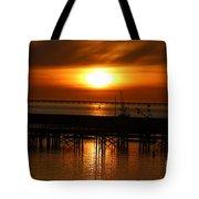 Astoria Oregon Sunset Tote Bag