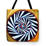 Astral Map Of The World. Black And White Stripes Tote Bag