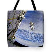 Astronaut In Atmosphere Tote Bag by Jennifer Rondinelli Reilly - Fine Art Photography