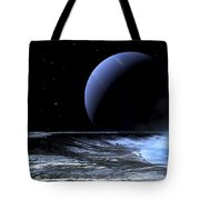 Astronaut Standing On The Edge Tote Bag