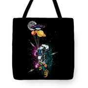 Astronaut Ufo Balloon Outer Space Shuttle  Tote Bag
