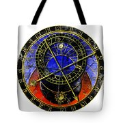 Astronomical Clock In Grunge Style Tote Bag