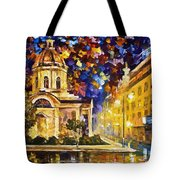Asuncion Paraguay - Palette Knife Oil Painting On Canvas By Leonid Afremov Tote Bag