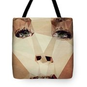 Asymetric Tan Tote Bag