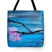 Asymmetry In Nature Abstract Floral Painting Tote Bag