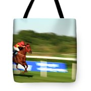 At A Breakneck Speed Tote Bag