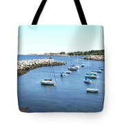 At Anchor In Rockport Ma Harbor Tote Bag