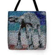 At-at Bottle Cap Mosaic Tote Bag by Paul Van Scott
