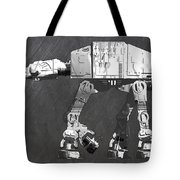 At At Walker From Star Wars Vintage Recycled License Plate Scrap Metal Art Tote Bag