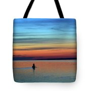 At Dawn In A Canoe  Tote Bag