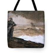 At High Sea Tote Bag by Winslow Homer