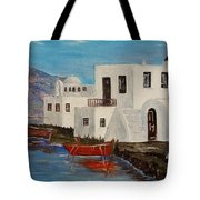 At Home In Greece Tote Bag
